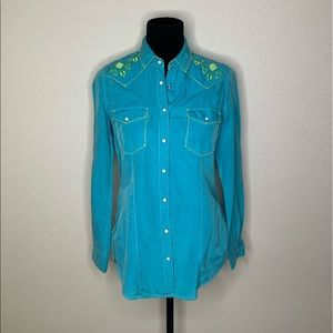 Ryan Michael pearl western button down